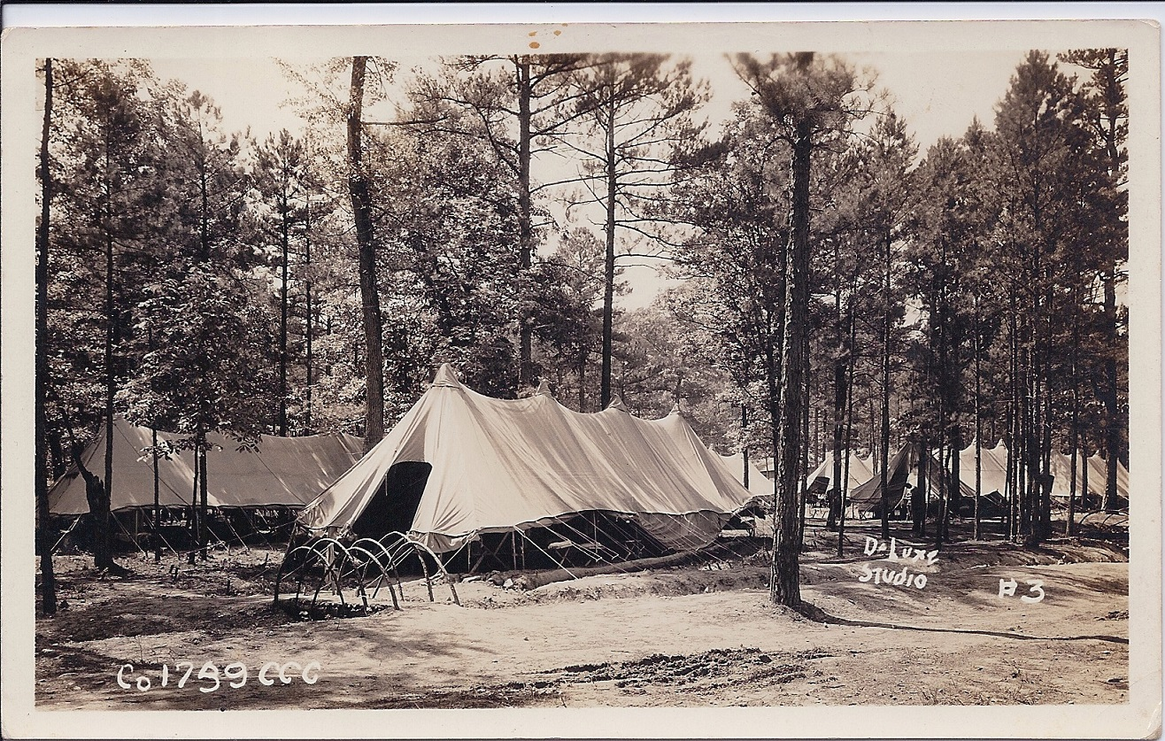 Co. 1739, F-15, Jessieville, AR - Setting up camp - 1933
