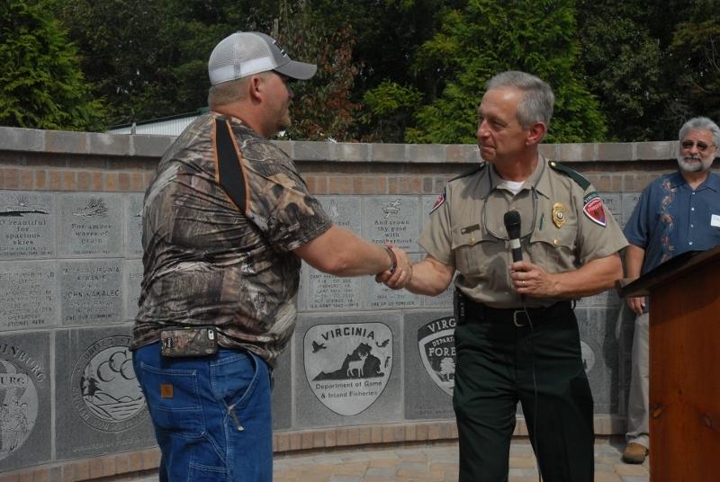 Joe Lehnen presented certificate to Smokey