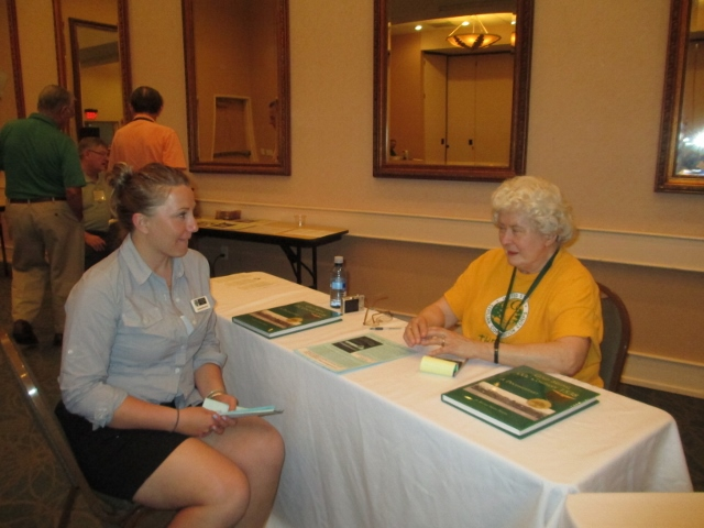 Author Kathy Smith and Corps member Eugenie
